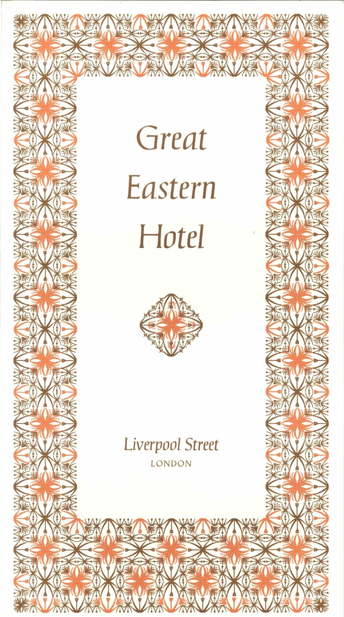 British Transport Hotels menu cards 1