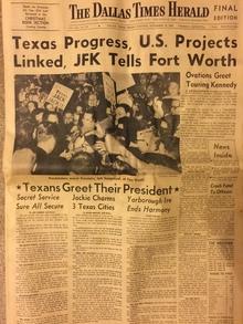 <cite>The Dallas Times Herald</cite>, Nov 22, 1963