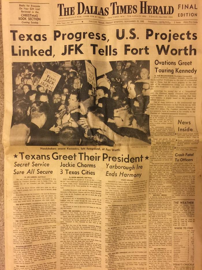 The Dallas Times Herald, Nov 22, 1963