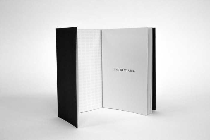 I wanted to incorporate some of the main design aspects of the memorial to give the audience some sort of insight into what it's like. The dust cover consists of a fold out A2 poster, which has a grid of 2,711 blocks or stelae, the exact number of the memorial, to represent its sheer scale and abstract nature.