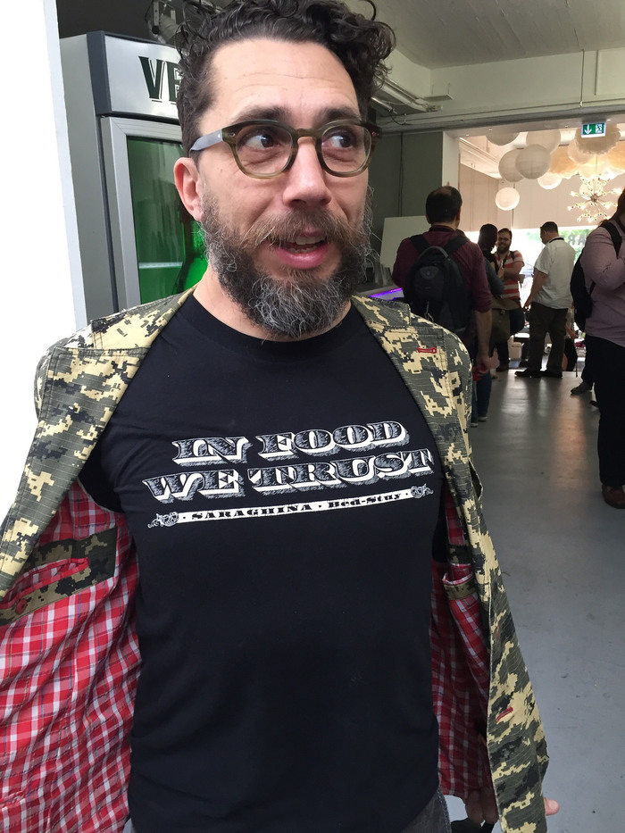 Matteo Bologna wears Federal at TYPO Berlin 2016.