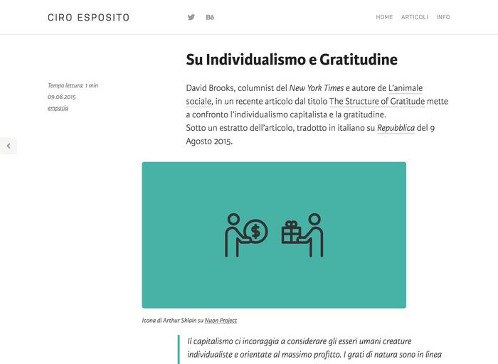 Ciro Esposito personal site 3