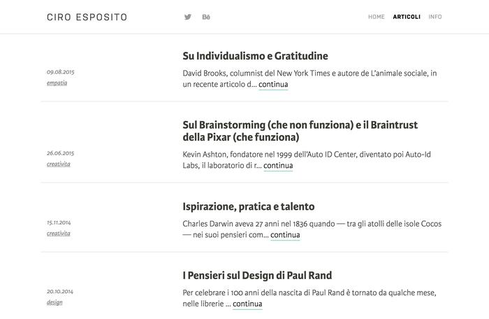 Ciro Esposito personal site 2