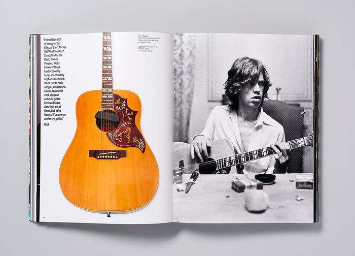 Mick Jagger's 1963 Gibson Hummingbird guitar.