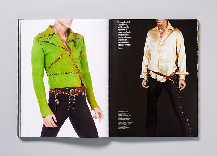 Looks worn by Keith Richards and Ronnie Wood, c. 1973–1974.