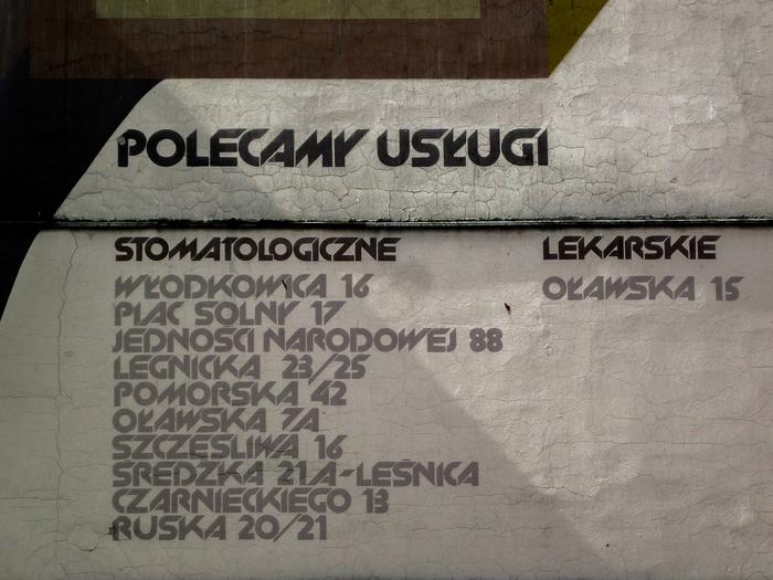 Polecamy usługi / Stomatologiczne / Lekarskie [We recommend the following services / Dental / Medical]