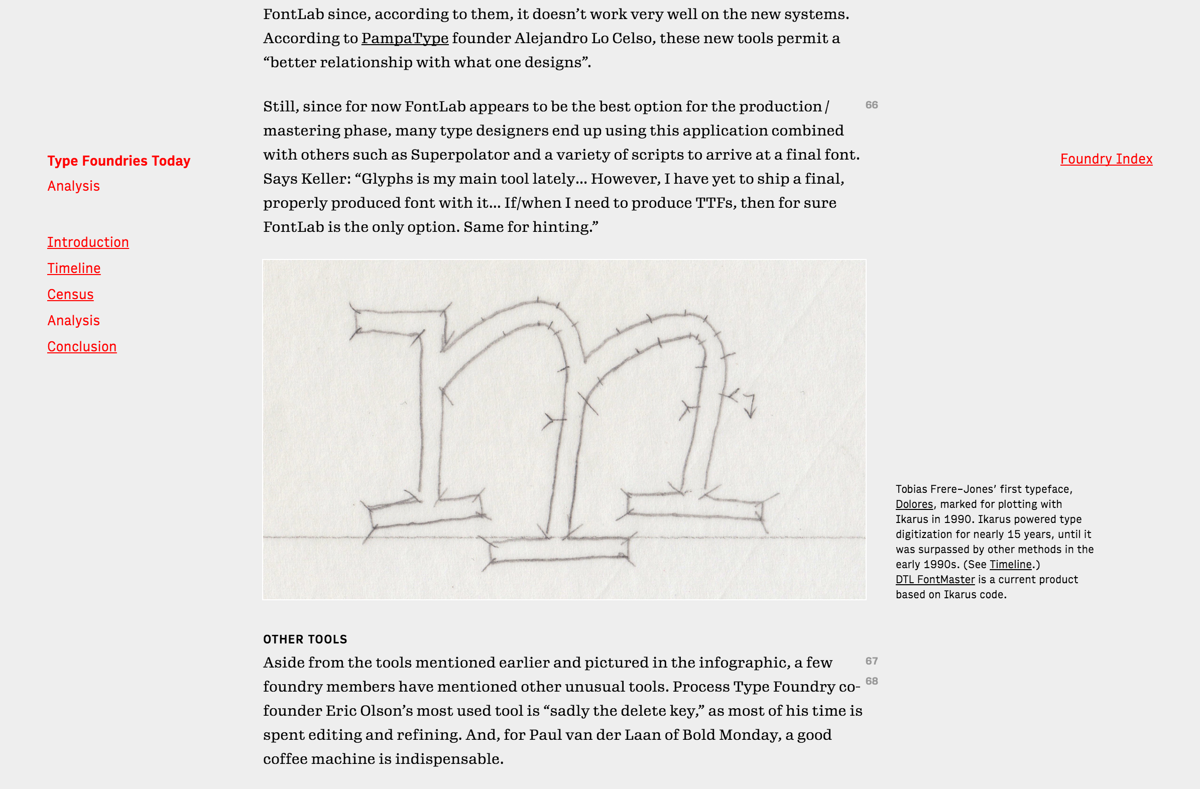 Type Foundries Today - Fonts In Use