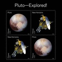 <cite>Views of Our Planets</cite> and <cite>Pluto—Explored!</cite> US postage stamps