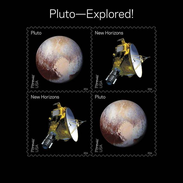 Views of Our Planets and Pluto—Explored! US postage stamps 2