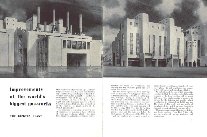 """Improvements at the world's biggest gas-works: The Beckton Plant"""
