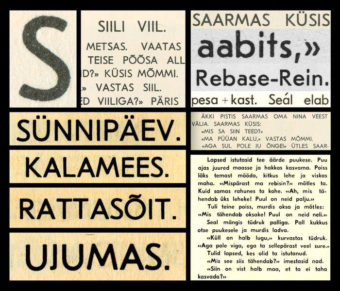 Scans that Moser and Rechsteiner used for the first version of Eesti