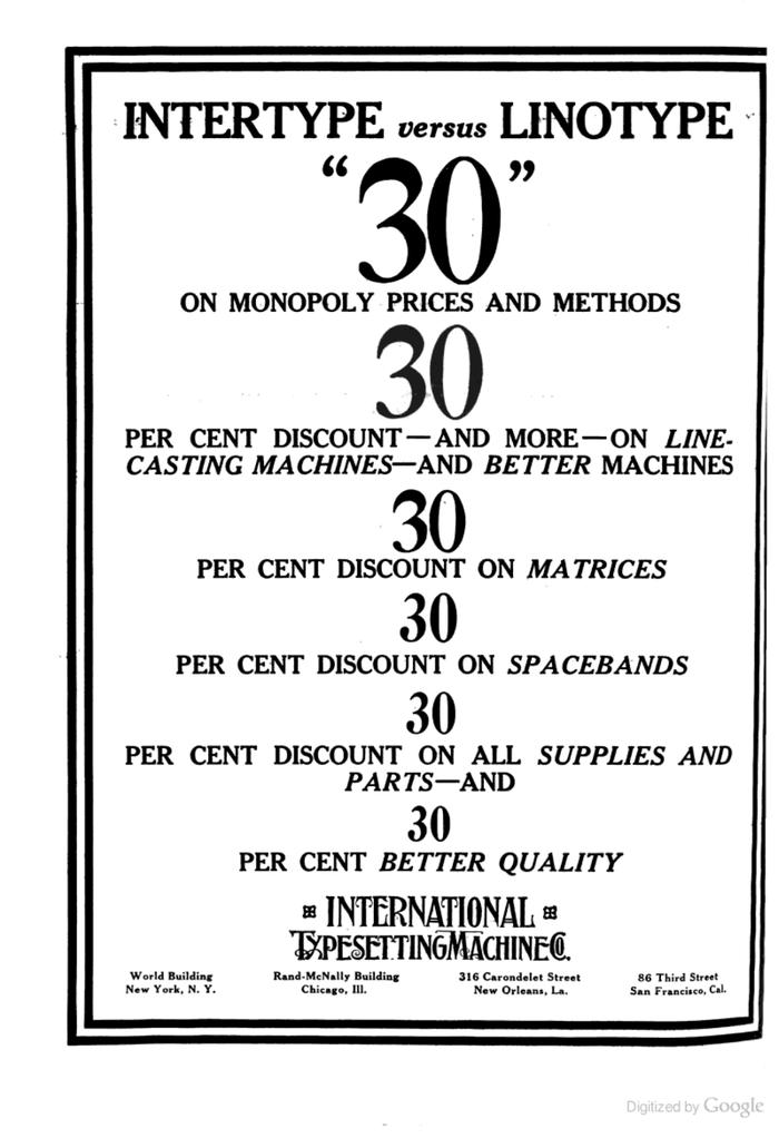 """Intertype ads: """"Intertype vs Linotype"""" 2"""