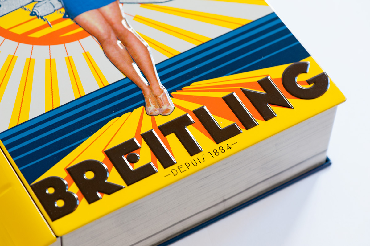 Chocolat Breitling candy tin - Fonts In Use