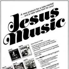 """Jesus Music"" ad for Myrrh Records"