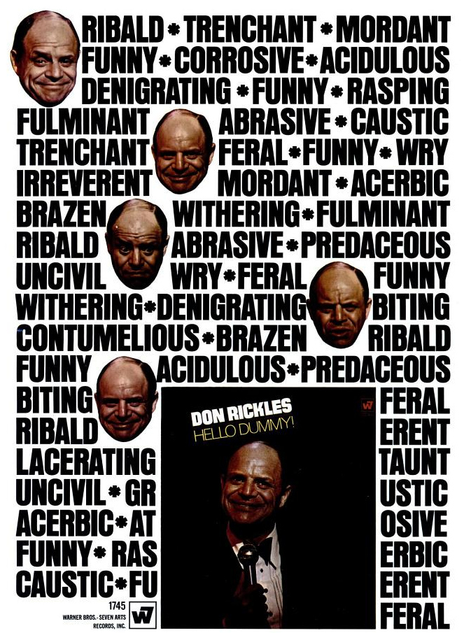 Ad for Hello Dummy! by Don Rickles