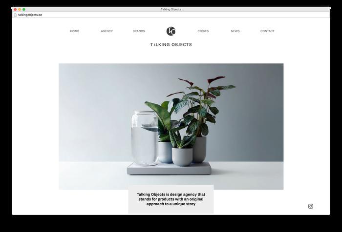 Talking Objects website 1