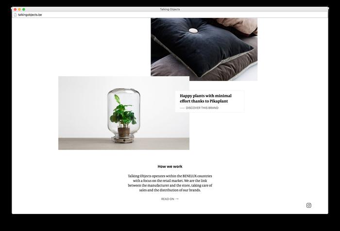 Talking Objects website 2