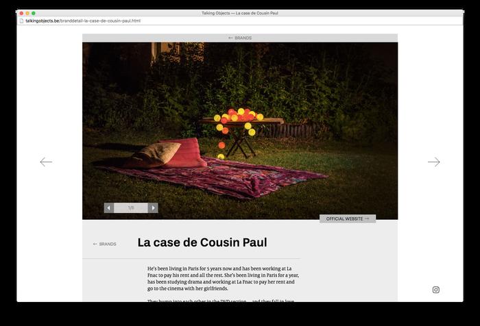 Talking Objects website 4