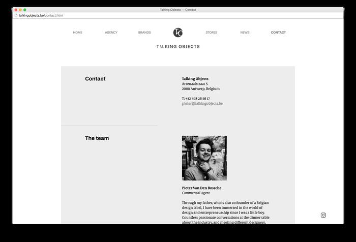 Talking Objects website 6