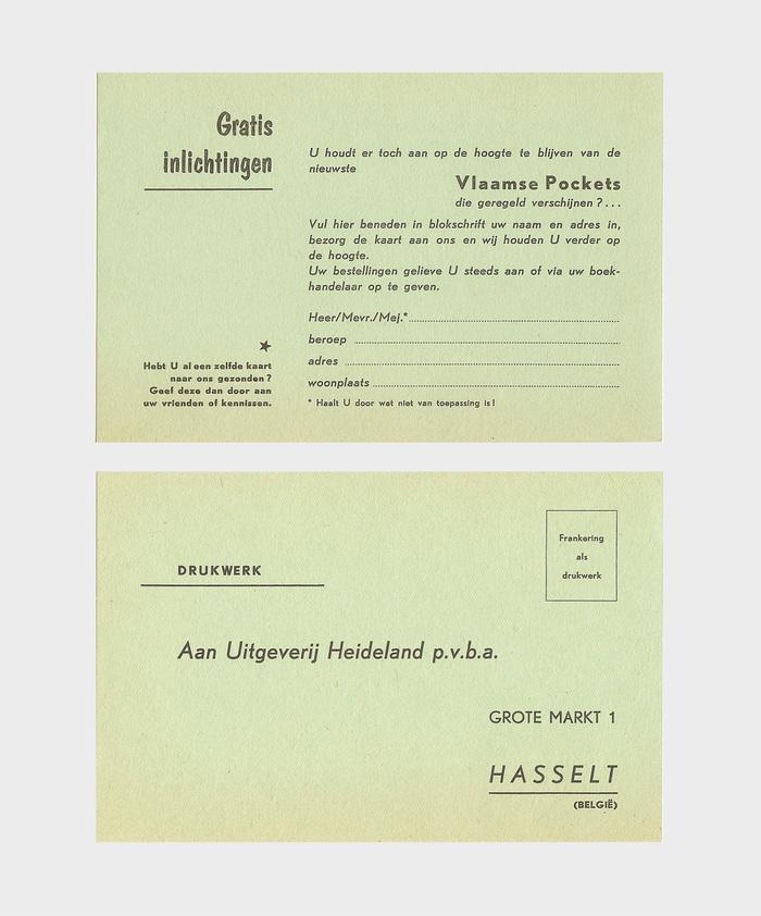 Uitgeverij Heideland inquiry form 1