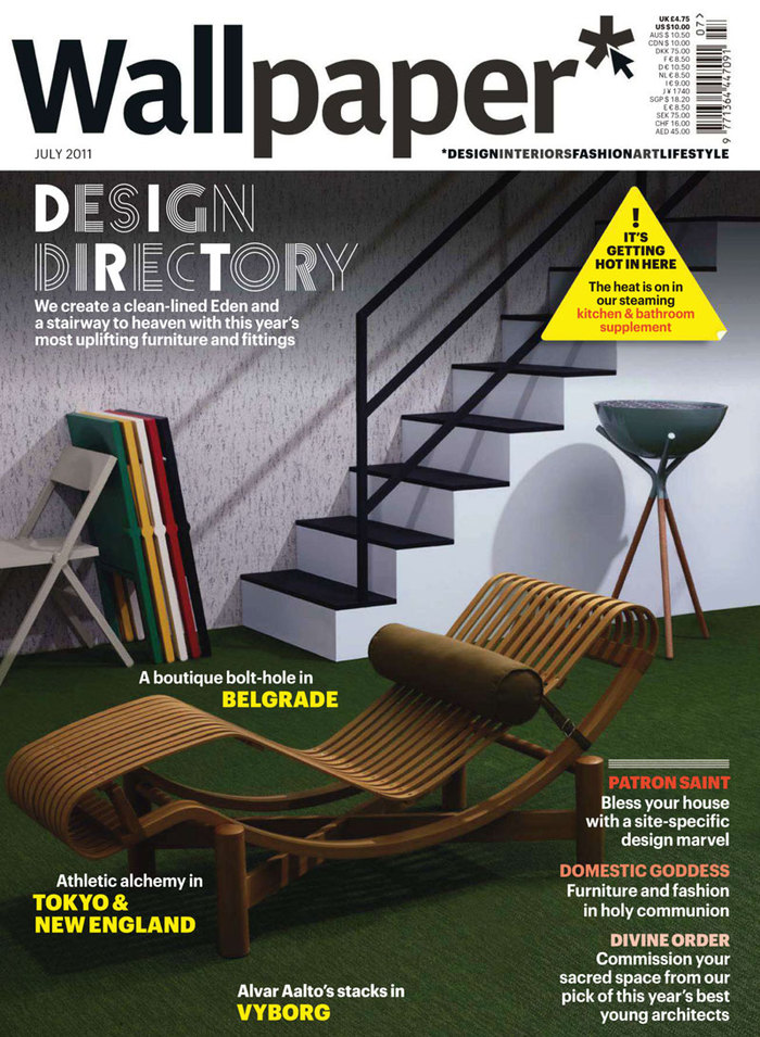 Cover photography by Leandro Farina, picturing the Tokyo outdoor chaise by Charlotte Perriand for Cassina, Piana folding chairs by David Chipperfield for Alessi, and the Druida barbecue by Juan Miguel Juarez, Laura Blasco and Alex Estevez for Mermelada Estudio.