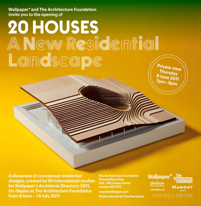 20 Houses. A New Residential Landscape exhibition, Wallpaper* Architects Directory 2