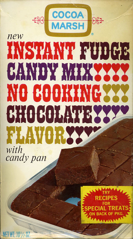 Cocoa Marsh Instant Fudge Candy Mix packaging 1
