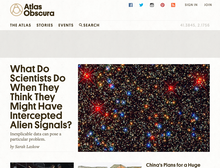 <cite>Atlas Obscura</cite> website