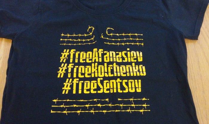 """""""#freeAfanasiev #freeKolchenko #freeSentsov"""" T-Shirt"""