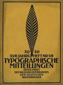<cite>Typographische Mitteilungen</cite>, vol. 17, No. 7, July 1920