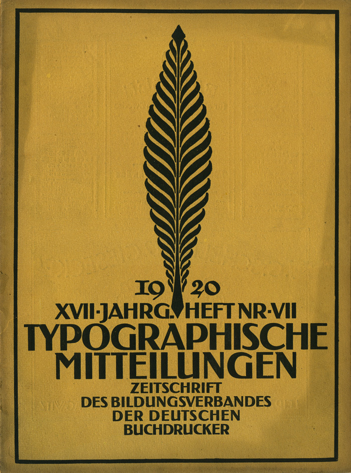 Typographische Mitteilungen, vol. 17, No. 7, July 1920