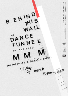 """Behind This Wall"" at Dance Tunnel"