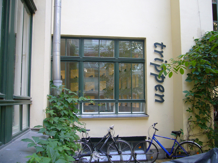 Trippen's first showroom, at Hackesche Höfe in Berlin.