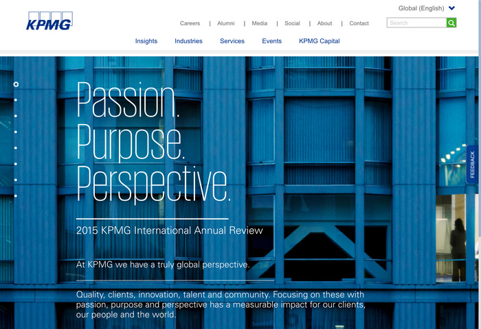 KPMG identity (2015 redesign) - Fonts In Use
