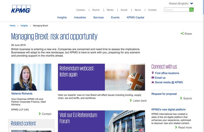 KPMG main website