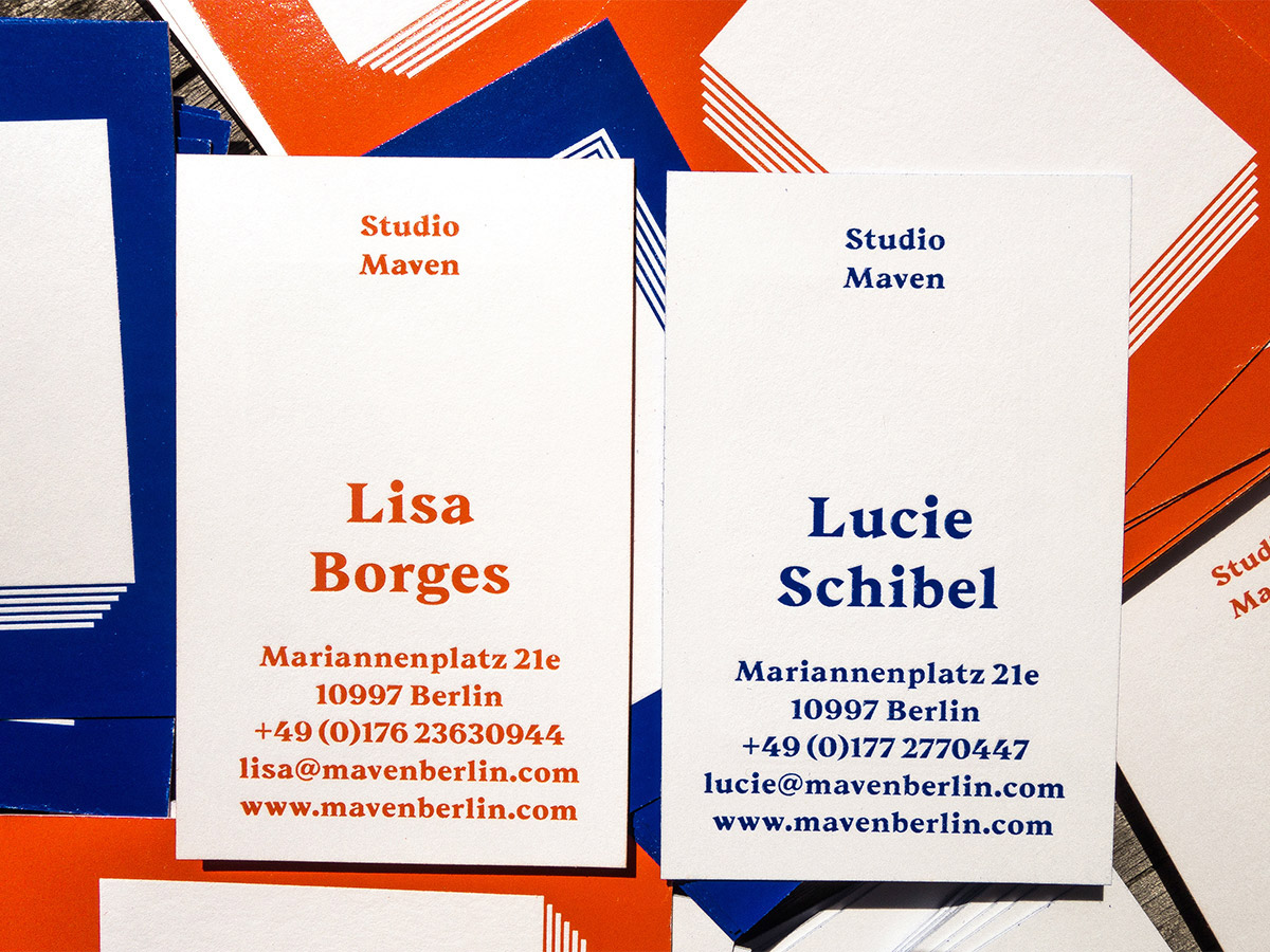 Studio Maven Business Cards Fonts In Use