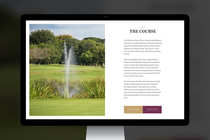 The Mere Golf Resort & Spa website 3