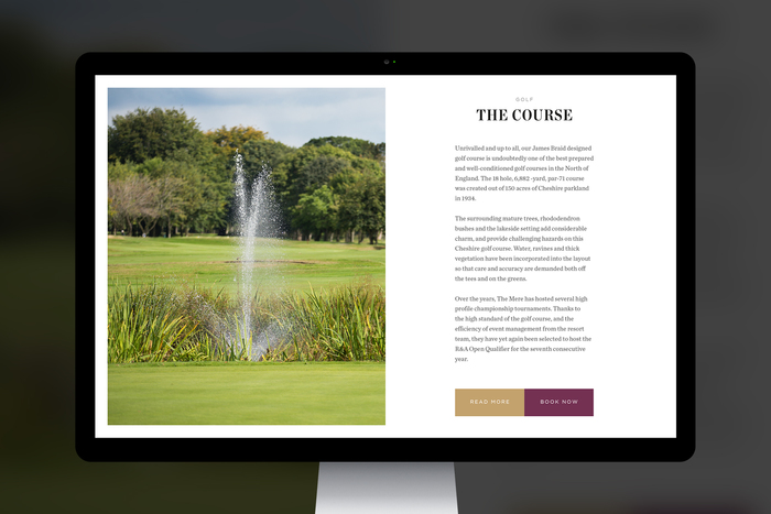 The Mere Golf Resort & Spa website 3