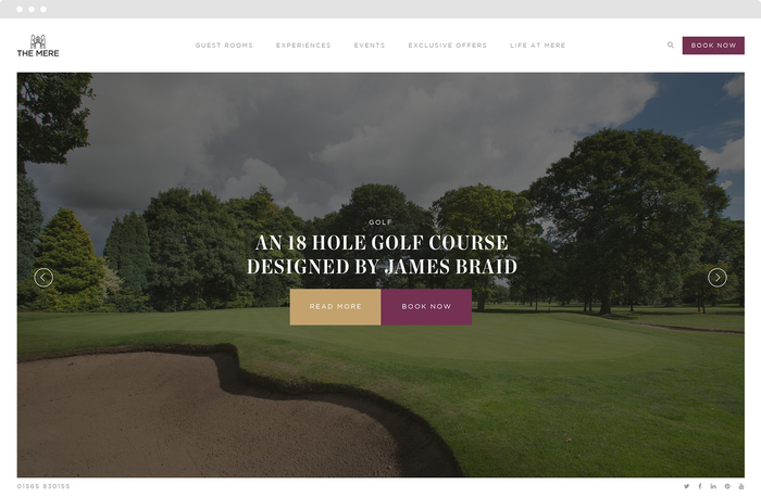 The Mere Golf Resort & Spa website 1