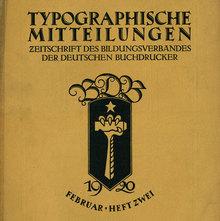 <cite>Typographische Mitteilungen</cite>, Vol. 17, No. 2, February 1920