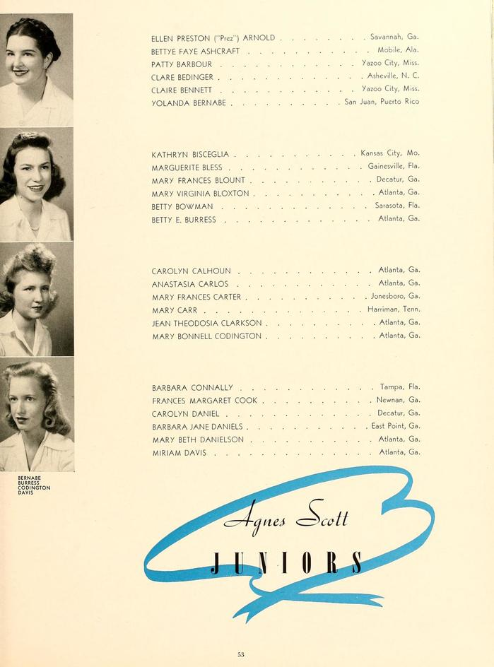 The 1943 Silhouette (Agnes Scott College yearbook) 8