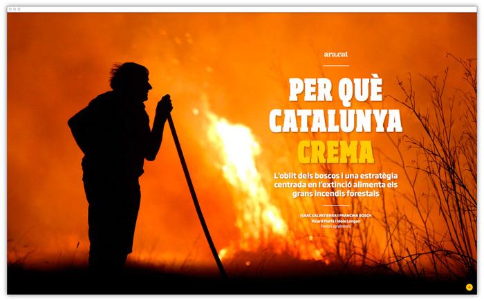 """""""Per Què Catalunya Crema"""" feature for Ara.cat 1"""