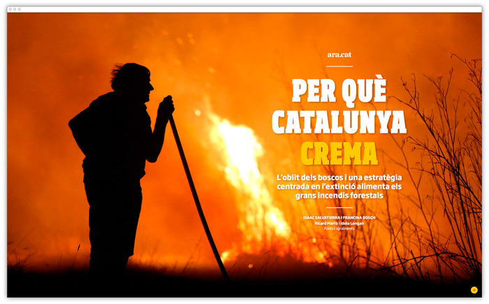 """Per Què Catalunya Crema"" feature for Ara.cat 1"