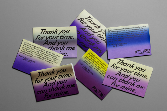 """""""Thank You For Your Time"""" exhibition flyer 1"""