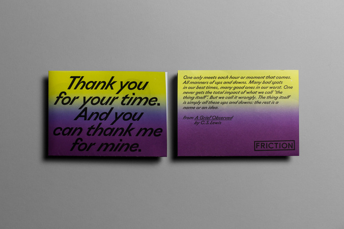 """Thank You For Your Time"" exhibition flyer 2"