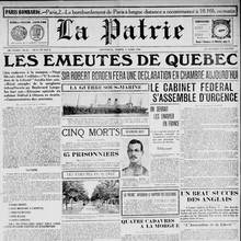"<cite>La Patrie</cite>, 2 April, 1918: ""Les emeutes de Quebec"" (Riots in Quebec)"