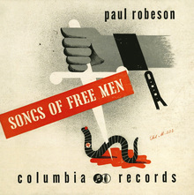 Paul Robeson – <cite>Songs of Free Men</cite> album art