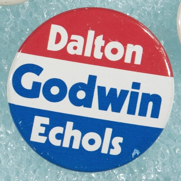 1974 campaign. Mills Godwin for Governor, John Dalton for Lieutenant governor, and Patton Echols for Attorney General.