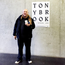 Poster for a Tony Brook lecture at HfG Offenbach