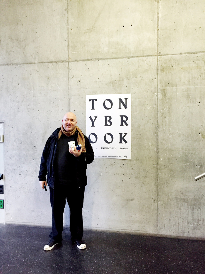 Poster for a Tony Brook lecture at HfG Offenbach 2